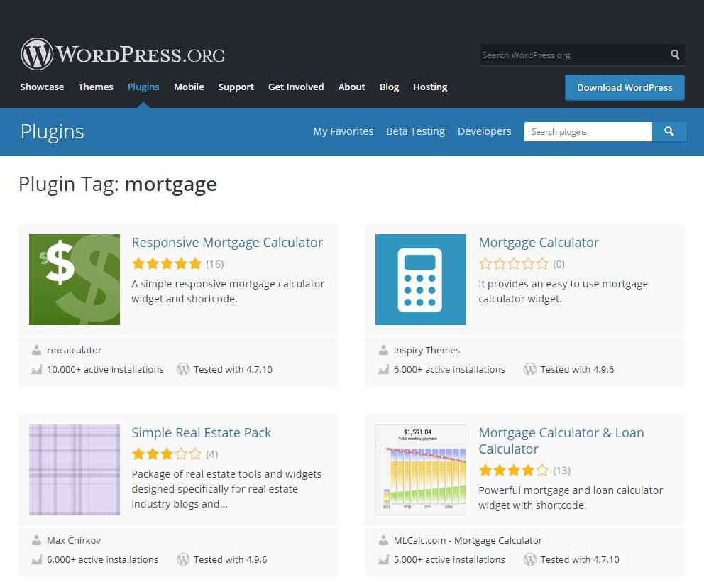 top3 mortgage calculator wordpress plugins
