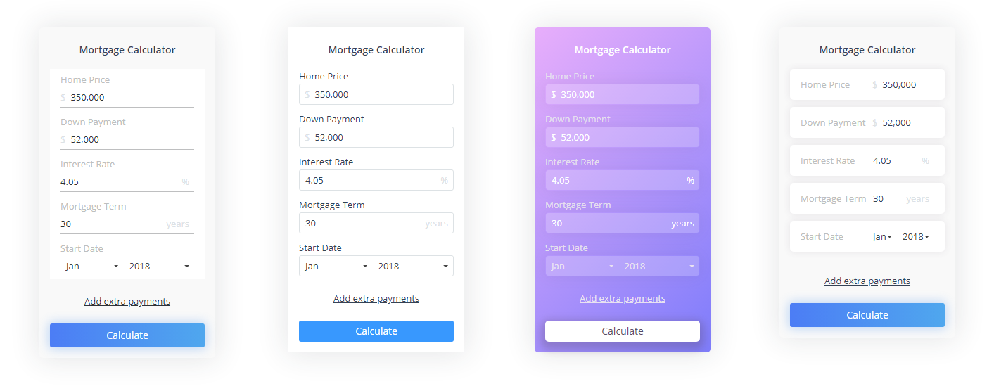 mortgage calculator with extra payments option